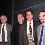 John Finnis, Fr. Neuhaus, yours truly, & Jeffrey Stout at Princeton in 2003. We were part of panel discussion at a conference on religion and secularism