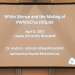 white church quiet poster