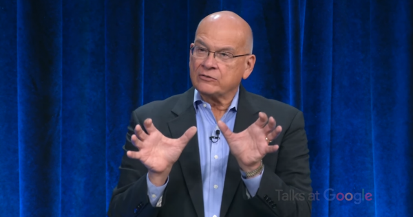 Tim Keller speaks to a Talks At Google event (screenshot via YouTube)