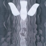 black and white wall hanging of dove signifying the holy spirit