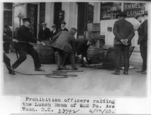 A raid in 1923 in Washington, DC. (Credit: Dewar's Repeal, CC license, government photo.)