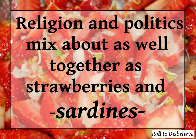 No, really. Thie background image is a picture of strawberries and sardines. Someone made this. And people probably ate it. (Credit: Jameson Fink, CC.)