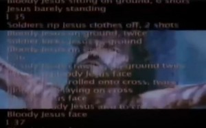 26:26 mark of The God Who Wasn't There, showing each incidence of violence in the movie.