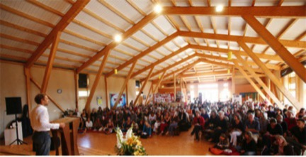 The Aula. Tamera's auditorium/community space. Portugal. Photo: Tamera