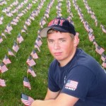 "When Sean was a student at Georgia Tech, he helped organize an American flag memorial display which consisted of 2,977 flags, one to represent each life that was taken during the 9/11 terrorist attacks. ""The flags are a poignant gesture, and my uncle would be proud to see that students set them up on campus every year,"" said Sean."