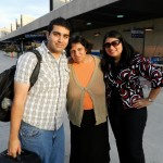 My brother Paul (21), my mother Veena, and me when we dropped Paul off at the Atlanta airport after his visit for Fall Break.