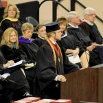 Roy B. Costner IV delivered the valedictorian address at Liberty High School's graduation ceremony as administrators watched in Clemson's Littlejohn Coliseum on June 1, 2013. (Photo courtesy of Angie Costner)