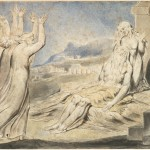 Image from William Blake's Illustrations of the Book of Job (via wikipedia commons)[Job in anguish, being comforted by his three friends and his wife]