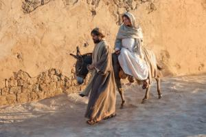 Mary and Joseph journey to Bethlehem. From LDS.org