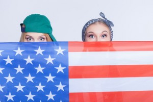 Flag and eyes
