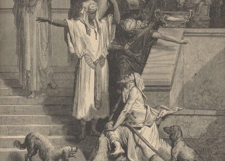The Rich Man and Lazarus (Gustave Dore, 1891)