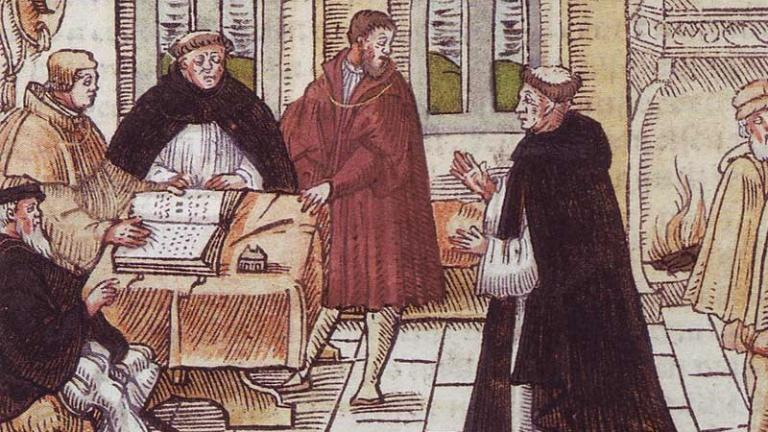Luther and Cajetan (public domain image)