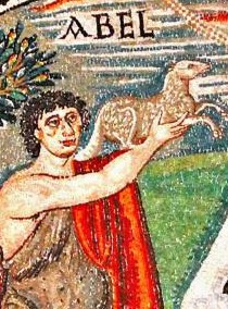 Abels offering from Ravenna mosaic