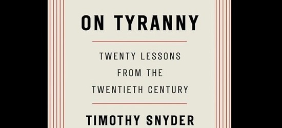 "Book Break:  ""On Tyranny"" Is Essential Reading in Pre-Fascist America and Europe"
