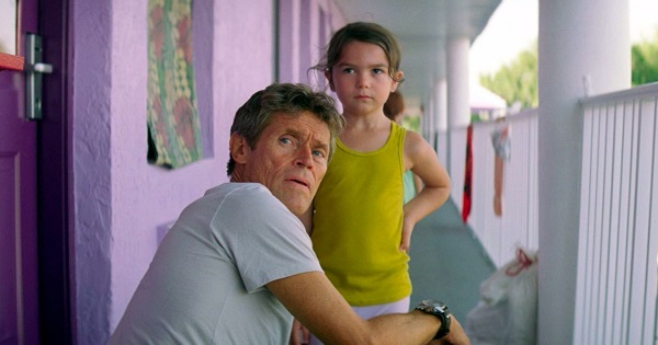 "Willem Dafoe and Brooklynn Prince, in ""The Florida Project"""