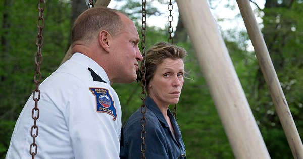 "Woody Harrelson and Frances McDormand, in ""Three Billboards outside Ebbing, Missouri"""