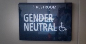 Trans Friendly Gender Neutral Bathroom Sign