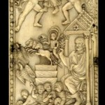 Ivory panel depciting the apotheosis of Quintus Aurelius Symmachus (c 340-402), the greatest orator of his day, a prominent pagan and opponent of Christian hegemony and intolerance. (Source: British Museum)