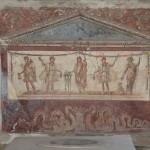 Lararium (household shrine) from the Thermopolium of Lucius Vetutuius Placidus, Pompeii