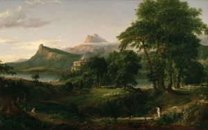 The Arcadian or Pastoral State, Thomas Cole, 1834. Public Domain