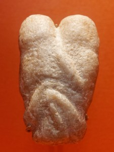 An ~11,000-year-old figurine thought to depict a pair of lovers. British Museum. Photo by Marie-Lan Nguyen / Wikimedia Commons / CC-BY 2.5