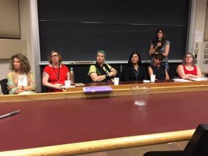 "Women writers on the ""Not Always Sweet"" Panel at the Trying to Say God Conference at University of Notre Dame, 2017."