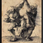 dancing peasant couple