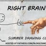 righ brain summer drawing club logo