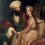 James Silk Buckingham and His Wife Elizabeth in Arab Costume, by Henry William Pickersgill, 1825. This picture cracks me up because you can tell they love each other, but one of them is clearly humoring the other
