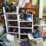 How to organize lots of shoes and water bottles, plus a love letter