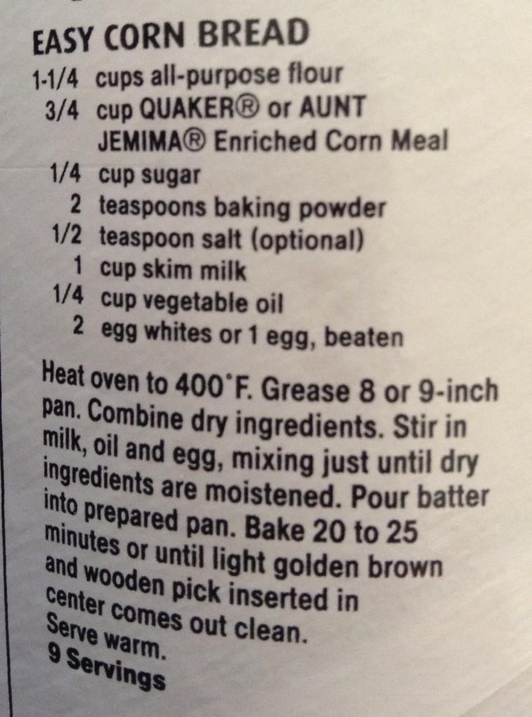 food blog corn bread recipe