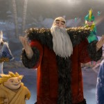 "North (Alec Baldwin) welcomes Jack Frost (Chris Pine) in this scene from the animated movie ""Rise of the Guardians."" (CNS/DreamWorks Animation)"