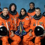 From left to right: David Brown, Rick Husband, Laurel Clark, Kalpana Chawla, Michael Anderson, William C. McCool, Ilan Ramon (NASA/JPL/Caltech)