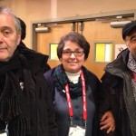 Me with producer Lionelle Cerri, left, and director Giorgio Diritti, both of 'There Will Come a Day'
