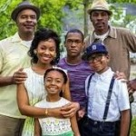 "rom left: David Alan Grier, Anika Noni Rose, Skai Jackson, Harrison Knight, Bryce Clyde Jenkins and Wood Harris star in Walden Family Theater's film ""The Watsons go to Birmingham,"" scheduled to air on the Hallmark Channel in September. (©Crown Media United States, LLC)"