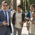 "Jon Hamm, Madhur Mittal, Suraj Sharma and Pitobash in a scene from the movie ""Million Dollar Arm"" (CNS/Disney)"