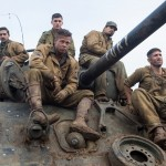 "From left: Shia LaBeouf, Logan Lerman, Brad Pitt, Michael Pena and Jon Bernthal in ""Fury"" (CNS/Columbia Pictures)"