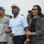 "David Oyelowo, center and Carmen Ejogo star in a scene from the movie ""Selma."" (CNS/Paramount)"