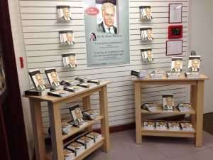 "The display of ""Martin Sheen: Pilgrim on the Way"" as soon as you walk into our Pauline Book & Media Center in Culve rCity, CA"