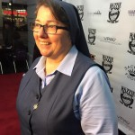 Being interviewed on the Red Carpet for the Razzies by video journalists from China