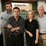 "From left: Michael Keaton, Liev Schreiber, Mark Ruffalo, Rachel McAdams, John Slattery and Brian d'Arcy James star in ""Spotlight."" (Entertainment One)"