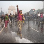 "Scene from ""India's Daughter,"" showing women protesting rape culture in India and being sprayed by waterhoses wielded by the authorities. (Leslee Udwin)"