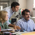 """Rachel McAdams, Mark Ruffalo, center, and Brian d'Arcy James play Boston Globe journalists documenting sex abuse by priests in """"Spotlight."""" (Kerry Hayes / Open Road Films via AP)"""