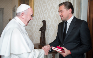 The Pope and Leonardo DiCaprio (Photo: L'Osservatore Romano)