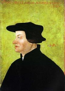 1531 portrait of Ulrich Zwingli
