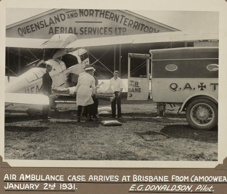 "1931 photo of an ""air ambulance"" in Australia"