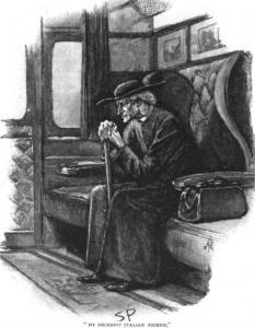 Sherlock Holmes disguised as a Catholic priest