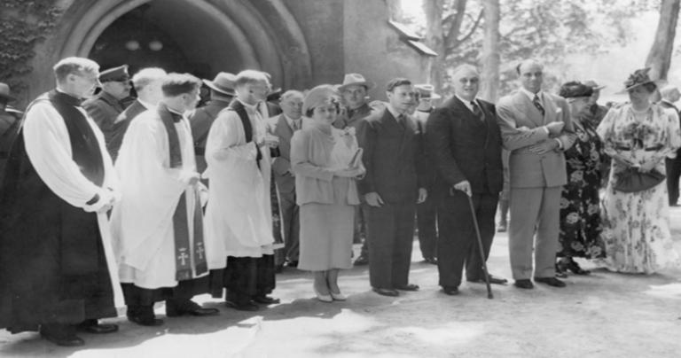 FDR and King George VI in 1939, at St. James Church in Hyde Park