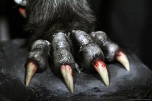 wolf paw with bloody claws (decorative)