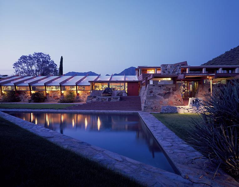 Taliesin West, by night